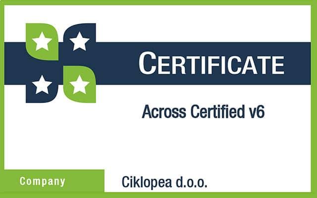 Циклопеа Сертификат Ацросс в6