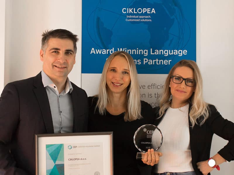 Five Years Among the Best: Ciklopea Awarded Another Certificate Employer Partner
