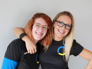 Ljubica Milovanović and Sara Demiri